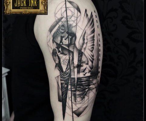 sketch tattoo, tatuaje sector 3, tatuaje baba novac, jack ink baba novac tattoo