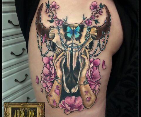 tatuaj color la Jack Ink Baba Novac Tattoo